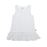 Organic cotton dress geo monotone Moon Jelly