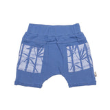 organic cotton shorts blue