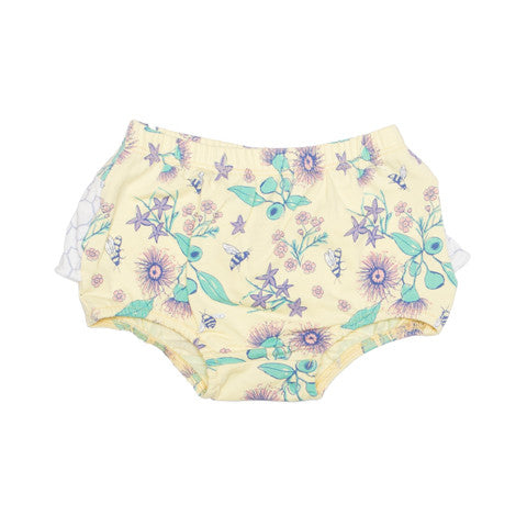 Australian native floral bee organic cotton bloomers moon jelly