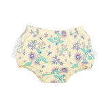 Floral Bee Stretchy Organic Cotton Bloomer - Moon Jelly
