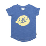 Hello Print Organic Cotton T-Shirt - Moon Jelly