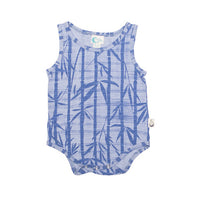 Bamboo Print Organic Cotton Bodysuit - Moon Jelly