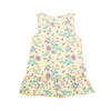 Australian native floral bee organic cotton dress