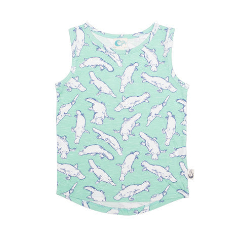 Platypus tank Moon Jelly organic cotton