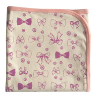 Buttons & Bows Organic Baby Wrap Swaddle - Moon Jelly