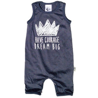 Courage Stretchy Organic Cotton Tank Romper - Moon Jelly