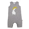 Tank Romper - Grey Marl Cockatoo