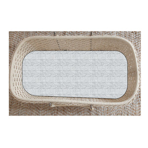 Cable Knit Bassinet Sheet/Change Table Cover