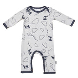 Kites & Clouds Print Super Soft Organic Cotton Romper - Moon Jelly