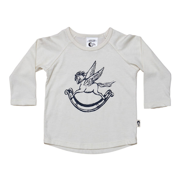 Rocking Horse Organic Cotton T-Shirt - Moon Jelly