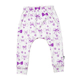 Slim Harem Full Length Pant - Buttons & Bows
