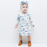 Billy Goats Kids Organic Cotton Dress - Moon Jelly