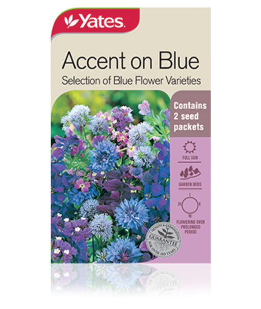 Accent on Blue Selection of Blue Flower Varieties - yatesgardening