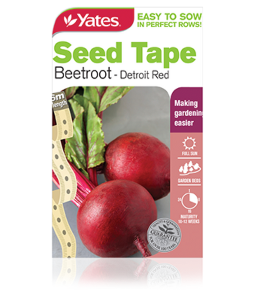 Seed Tape Beetroot - Detroit Red - Yates Australia