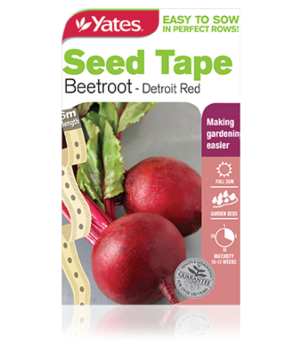 Seed Tape Beetroot - Detroit Red - yatesgardening