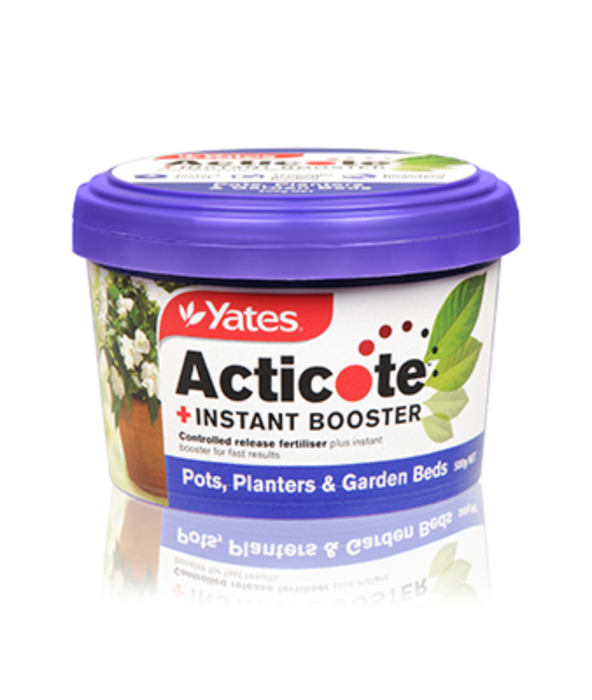 Yates Acticote + Instant Booster Controlled Release Fertiliser for Pots, Planters & Garden Beds 500g