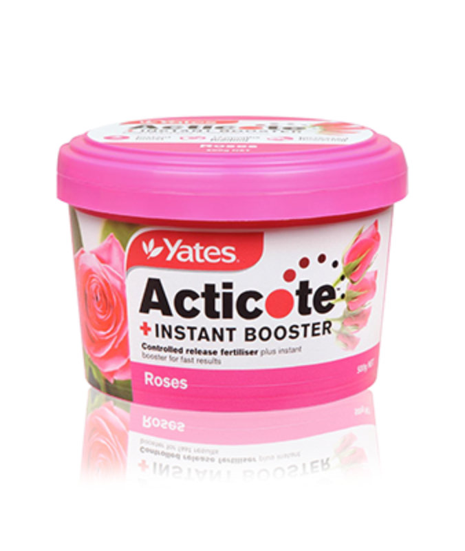 Yates Acticote + Instant Booster Controlled Release Fertiliser for Roses & Flowering Plants 500g
