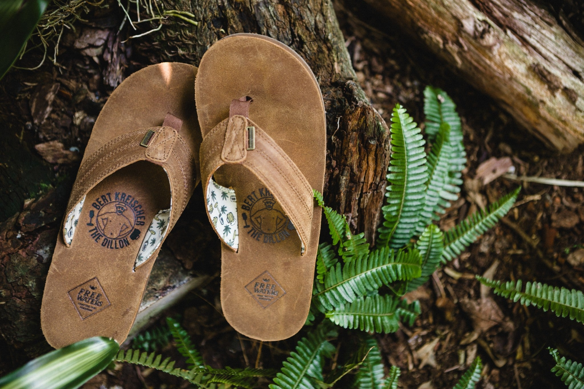 Sustainable leather sandals