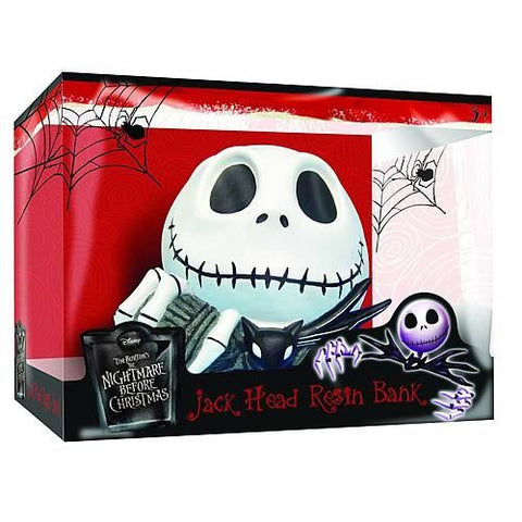 Nightmare Before Christmas - Jack Skellington Head Resin Bank