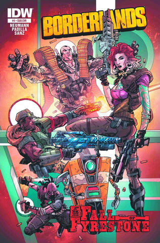 Borderlands - The Fall of Fyrestone Issue #4 SUBSCRIPTION VARIANT COVER