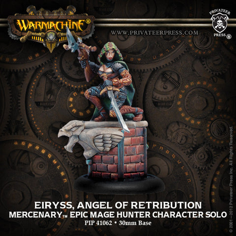 Warmachine - Mercenaries Eiryss, Angel of Retribution Epic Mage Hunter Character Solo