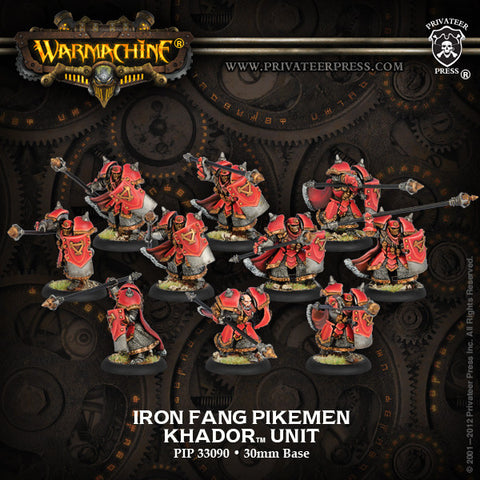 Warmachine - Khador Iron Fang Pikemen Unit Box