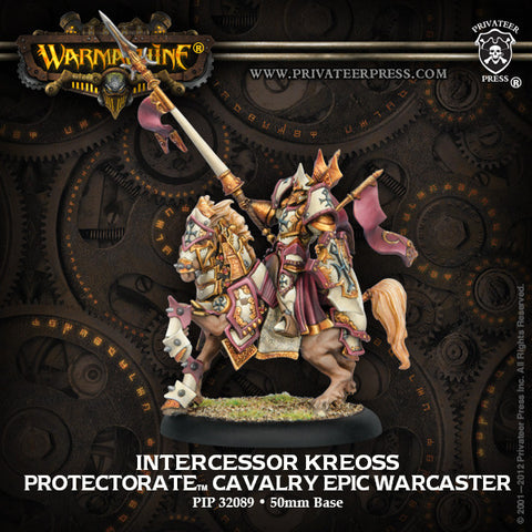 Warmachine - Protectorate of Menoth Intercessor Kreoss Cavalry Epic Warcaster