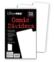 Ultra Pro - Comic Storage Dividers White 25pk