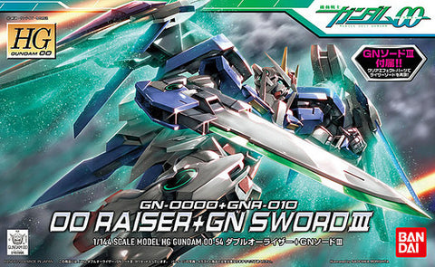 Mobile Suit Gundam - 1/144 HG OO Raiser + GN Sword III  Model Kit