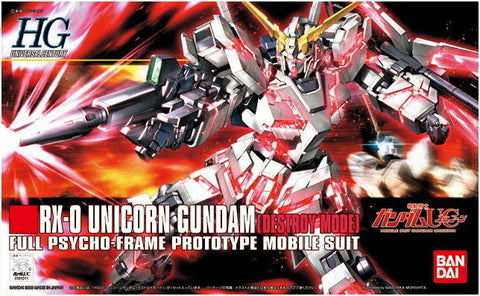 Mobile Suit Gundam - 1/144 HG RX-0 Unicorn Gundam (Destroy Mode) Model Kit