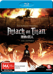 Attack on Titan - Anime Collection 1 Blu-Ray [REGION 4]