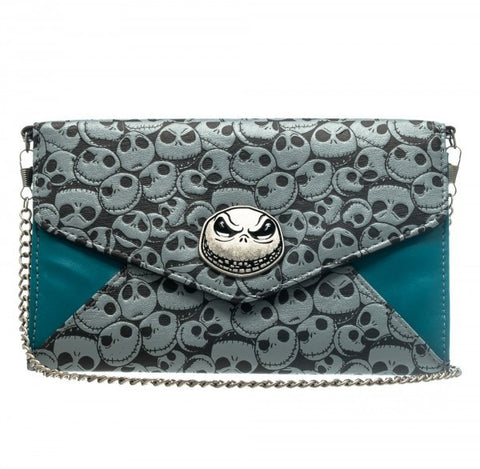 Nightmare Before Christmas, The - Envelope Style Clutch Purse with Chain
