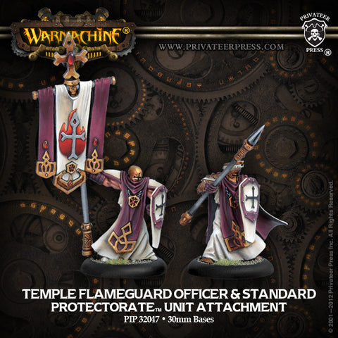Warmachine - Protectorate of Menoth Flameguard Officer & Standard Unit Attachment