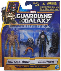 Guardians of the Galaxy - 2-Pack Figures Groot and Rocket Raccoon and Sakaaran Trooper