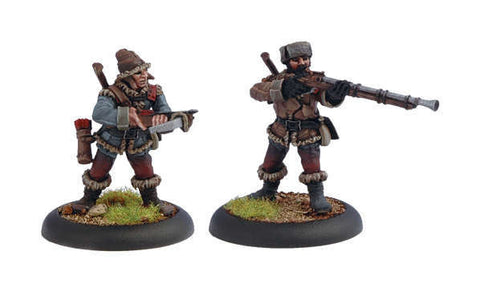 Warmachine - Khador Troops Woodsmen Miniatures (2 Models)