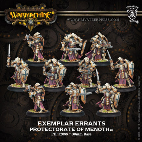 Warmachine - Protectorate of Menoth Exemplar Errants Plastic Unit (10 models) Box