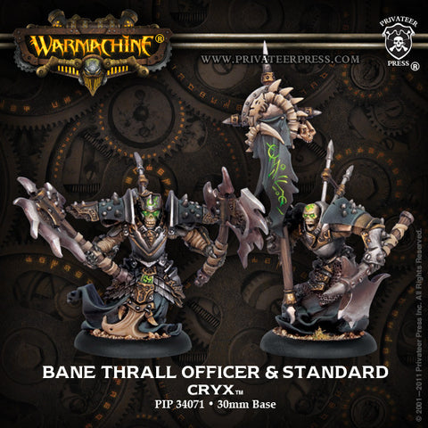 Warmachine - Cryx: Bane Thrall Officer and Standard