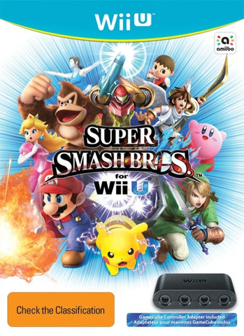 Super Smash Bros - ***SOLD OUT**** Wii U Game inc Gamecube Controller Adaptor  ***PRE-ORDER***