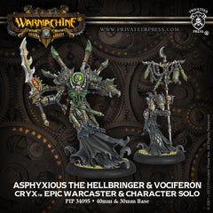 Warmachine - Cryx: Asphyxious the Hellbringer & Vociferon Epic Warcaster & Solo