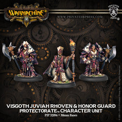 Warmachine - Protectorate of Menoth Visgoth Rhoven & Exemplar Bodyguards Character Unit