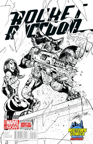 Rocket Raccoon - Issue #1 MIDTOWN EXC SCOTT CAMPBELL SKETCH VARIANT COVER