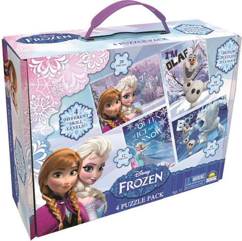 Frozen - 4 Puzzle Pack with Carry Case