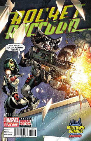 Rocket Raccoon - Issue #1 MIDTOWN EXC SCOTT CAMPBELL VARIANT COVER