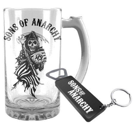 Sons of Anarchy - Stein & Bottle Opener Set