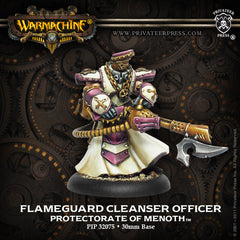 Warmachine - Protectorate of Menoth: Flameguard Cleanser Officer Unit Attachment