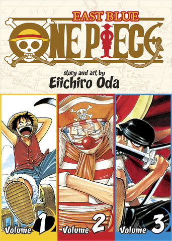 One Piece - Manga 3-in-1 Vol 001 (Volumes 1, 2, 3)