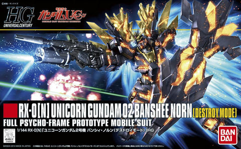 Mobile Suit Gundam - 1/144 HGUC Unicorn Gundam 02 Banshee Norn Model Kit