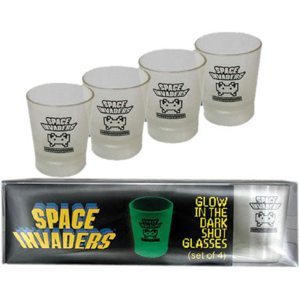 Space Invaders - Shot Glass set of 4