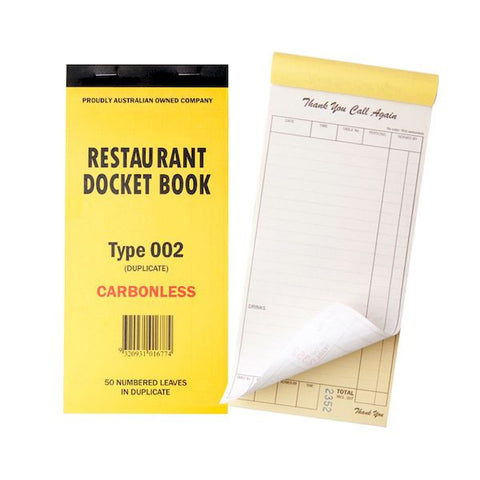 Duplicate Carbonless Docket Book