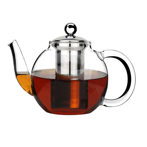350ml Athena Glass Teapot with 18/8 Stainless Steel Infuser